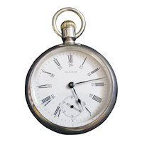 Antique 1879 Broadway Grade Waltham Pocket Watch