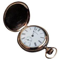 C1901 Waltham Seaside Gold filled Pocket Watch Model 1890