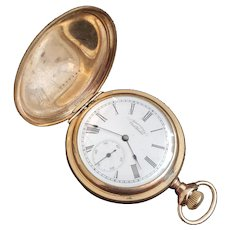 1890 14K Gold Filled Antique American Waltham Pocket watch