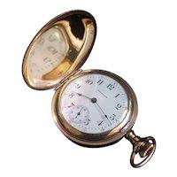 Antique 1891 0 Size Waltham Gold Filled Ladies' Pocket Watch