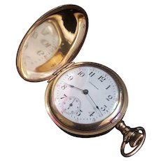 Antique 1891 0 Size Waltham Gold Filled Ladies' Pocket Watch