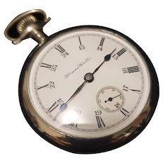Vintage 1921 Silverode Hamden Watch Co pocket watch