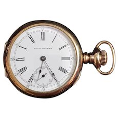 Vintage 10K Gold Plated Seth Thomas Pocket Watch