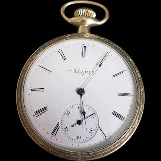 Vintage 1903 Elgin Gold Filled Pocket Watch
