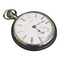 Very Unique Antique 1893 Open Back Elgin Pocket Watch