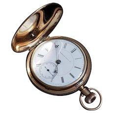 Antique Railway Grade Gold Filled Hampden Pocket Watch