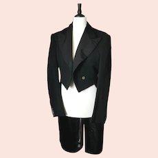 Vintage c1930s gents Black wool tailcoat