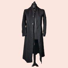 Antique mens long coat, trench, Cassock jacket