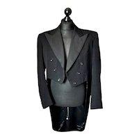 Vintage c1950s Black wool blend tailcoat