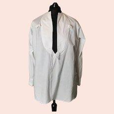 Vintage c1930s gents white cotton dress shirt, Rochester