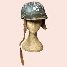 Vintage motorcycle helmet, Feridax, c1950's