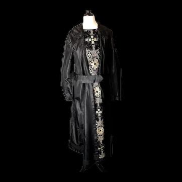 Antique Edwardian mourning dress