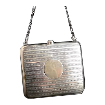 Antique sterling silver finger purse