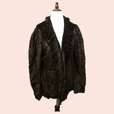 Art Deco silk velvet ruffle jacket
