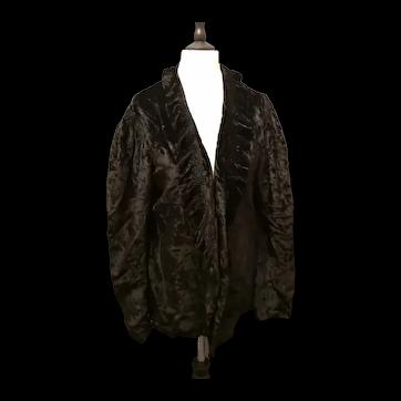 Art Deco silk velvet ruffle jacket