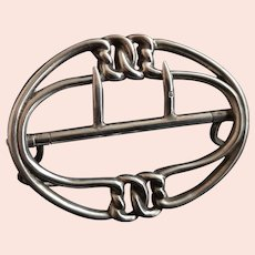 Antique Victorian silver belt buckle