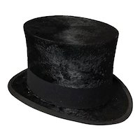 Vintage Art Deco 1930s Black top hat, Christys