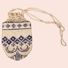 Antique Georgian beadwork reticule purse