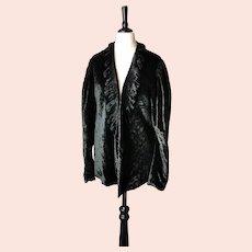 Vintage Art Deco 1920s jacket, ruffle front