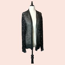 Vintage Art Deco beaded chiffon jacket