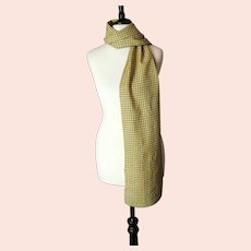 Vintage yellow checked scarf, Turnbull and Asser