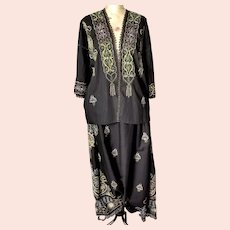 Antique embroidered 4 piece suit, Boho, South East Asian