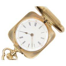 Victorian August Von Loehr 14K Gold Hunting Case Pocket Watch