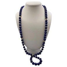 14k Lapis Lazuli Opera Necklace