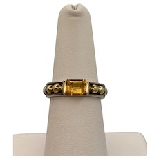 Lagos Caviar 925 18k Citrine Ring