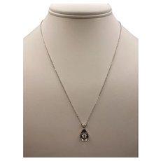 14k Transitional Cut Diamond Necklace