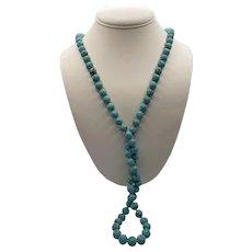 Turquoise Shou Bead Necklace