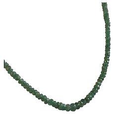 14k Genuine Emerald Bead Necklace
