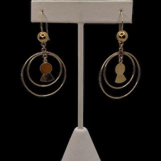 18k Wire Earrings