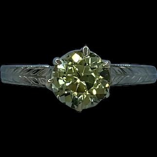 Art Deco 20k and 10k Yellow Sapphire Ring