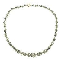 La Belle Époque Garland Choker Necklace Paste Stones C.1900