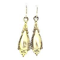 Etruscan Revival Gold 9CT Earrings Enchanting Elegance C.1870s