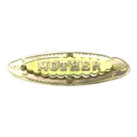 Vintage Gold Front MOTHER Aesthetic Brooch Pin Signed AJC