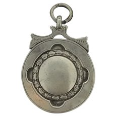 Silver Fully Hallmarked Watch Fob Pendant Bath League 1935-36