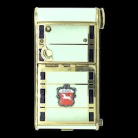 Collectable Enamel Music Vanity Box Bergen Mechanical Wind Up