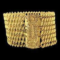 Georgian Pinchbeck Bracelet Cuff Authentic Aesthetic Clasp c.1800