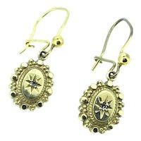 Fine Diamond Earrings Gold 9CT Victorian Style Dainty Beautiful