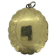 Aesthetic Gold Plated Hinged Locket Pendant Great Condition c.1900