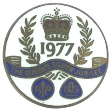 Royalty Collectable Enamel Pin Queen Silver Jubilee Celebration Birmingham