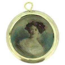 Edwardian Rolled Gold Shaker Locket Pendant Double Glazed c.1901