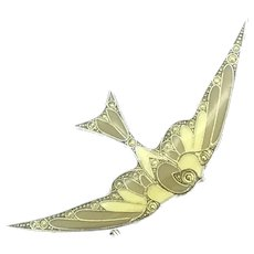 Vintage Art Deco Style Bird Enamelled Costume Brooch