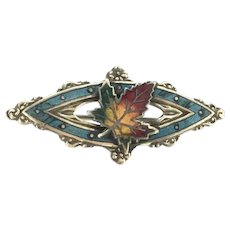 Collectable Canadian Enamelled Brooch Pin Maple Leaf Costume Souvenir