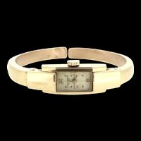 Baume Mercier 18CT Solid Gold Marquise Bangle Watch 1946 Post War Ladies