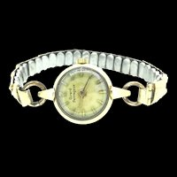 Vintage Gold Plated Wind Up Mechanical Wristwatch Girard Perregaux