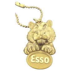 Collectable Esso Tigre Key Ring Advertising Early Plastic