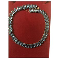 Edwardian Blue Paste Necklace Open Backed